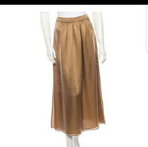 Rachel Zoe gold silk skirt